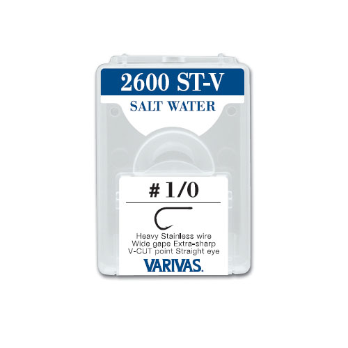 2600 ST-V SALT WATERHeavy Stainless wire Wide gape Extra-sharp V-CUT point Straight eye