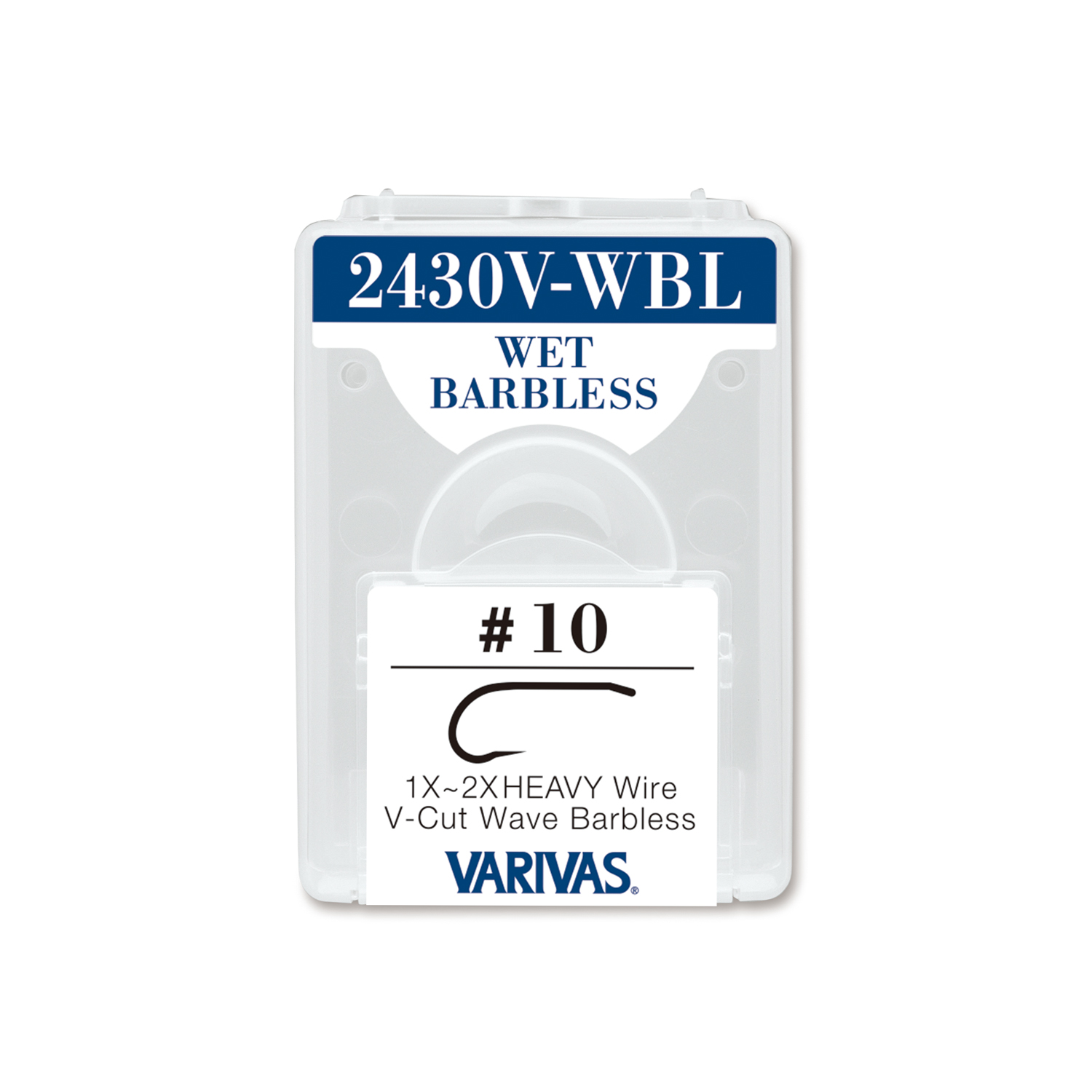 2430V-WBL WET BARBLESS1X〜2X Heavy Wire V-Cut Wave Barbless