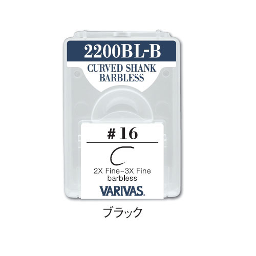 2200BL-B CURVED SHANK BARBLESS2X Fine~3X Fine barbless