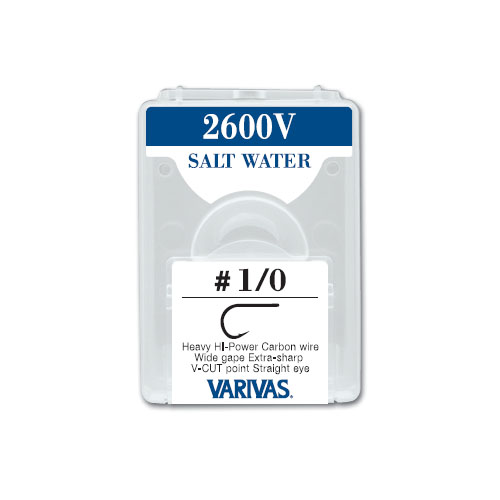 2600V SALT WATERHeavy HI-Power Carbon wire Wide gape Extra-sharp V-CUT point Straight eye